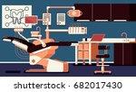 dentist office illustrations | Shutterstock .eps vector #682017430