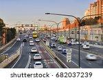 sydney warringah freeway heavy...   Shutterstock . vector #682037239