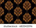 seamless ornament on background.... | Shutterstock .eps vector #682042096