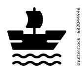 sail icon | Shutterstock .eps vector #682044946