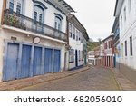ouro preto streets on a sunday... | Shutterstock . vector #682056010