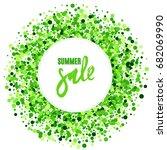 summer sale vector creative... | Shutterstock .eps vector #682069990