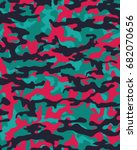 abstract camouflage pattern.... | Shutterstock .eps vector #682070656