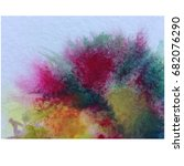 watercolor abstract background... | Shutterstock . vector #682076290