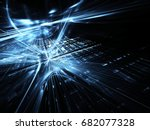 computer generated abstract... | Shutterstock . vector #682077328