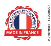 made in france. premium quality ... | Shutterstock .eps vector #682088074