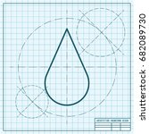 vector blueprint drop icon on...   Shutterstock .eps vector #682089730