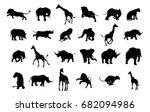 an african safari animal... | Shutterstock . vector #682094986