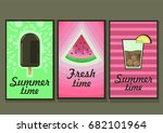 summer cards | Shutterstock .eps vector #682101964