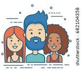 people vector illustration | Shutterstock .eps vector #682104358