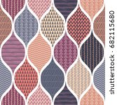 seamless pattern  patchwork... | Shutterstock .eps vector #682115680