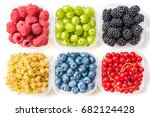 Collage Of Different Fruits An...