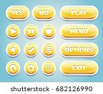 set of yellow candy buttons for ...