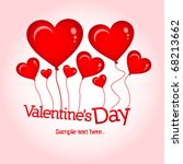 valentine s day card with... | Shutterstock .eps vector #68213662