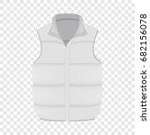 white warm vest mockup.... | Shutterstock .eps vector #682156078