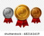 champion gold  silver and... | Shutterstock .eps vector #682161619