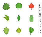 Summer Leaves Icons Set....