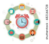 time management and time is... | Shutterstock .eps vector #682166728