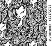 unicorns seamless pattern.... | Shutterstock .eps vector #682172713