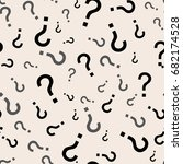 question mark seamless pattern .... | Shutterstock .eps vector #682174528