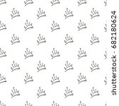 vector hand drawing crowns... | Shutterstock .eps vector #682180624