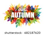 autumn banner with various... | Shutterstock .eps vector #682187620