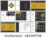 design annual report  cover ...   Shutterstock .eps vector #682189708