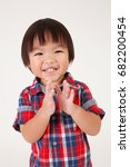 portrait of boy with checker...   Shutterstock . vector #682200454