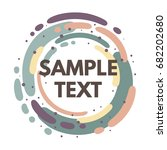 abstract vector frame for text. ... | Shutterstock .eps vector #682202680