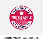 welcome to new york roadside... | Shutterstock .eps vector #682205848