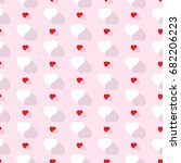 abstract background hearts | Shutterstock .eps vector #682206223