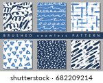 set of vector colorful seamless ... | Shutterstock .eps vector #682209214