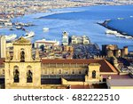 view over naples bay with old... | Shutterstock . vector #682222510