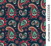 seamless paisley pattern | Shutterstock .eps vector #682223308
