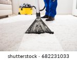 close up of a janitor cleaning... | Shutterstock . vector #682231033