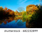 Autumn in Prospect Park in Brooklyn New York