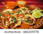 tacos al pastor in mexico city  ...   Shutterstock . vector #682235578