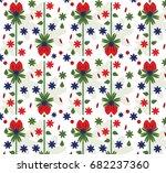 art boho pattern. ethnic... | Shutterstock .eps vector #682237360