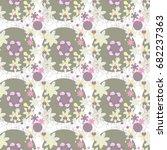 art boho pattern. ethnic... | Shutterstock .eps vector #682237363