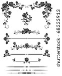 Stock vector decorative elements 68223913