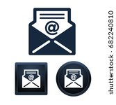 simple and button shape e mail... | Shutterstock .eps vector #682240810