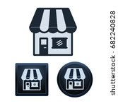 simple and button shape store... | Shutterstock .eps vector #682240828