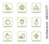 Fruits Web Icons   White Glossy ...