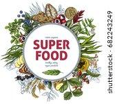 superfood round banner  full... | Shutterstock .eps vector #682243249