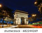 the triumphal arch in evening ...   Shutterstock . vector #682244269