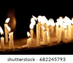 group of lighting candles in... | Shutterstock . vector #682245793