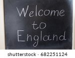 welcome to england. the... | Shutterstock . vector #682251124