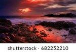 porto sanot  unlike mountainous ...   Shutterstock . vector #682252210