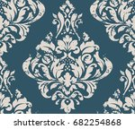 vector damask seamless pattern... | Shutterstock .eps vector #682254868