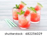 summer cold drink with...   Shutterstock . vector #682256029